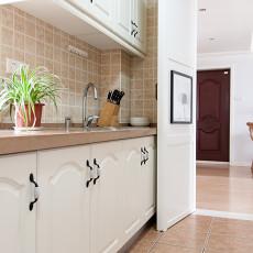 温馨102平美式三居厨房装修图片