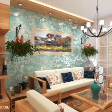 面积84平田园二居客厅效果图片