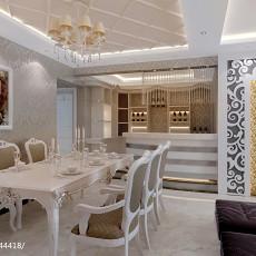 2018精选93平方三居餐厅欧式装修设计效果图片