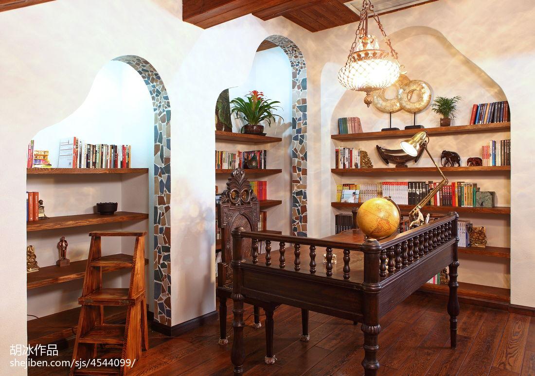 2018东南亚复式书房装修设计效果图片