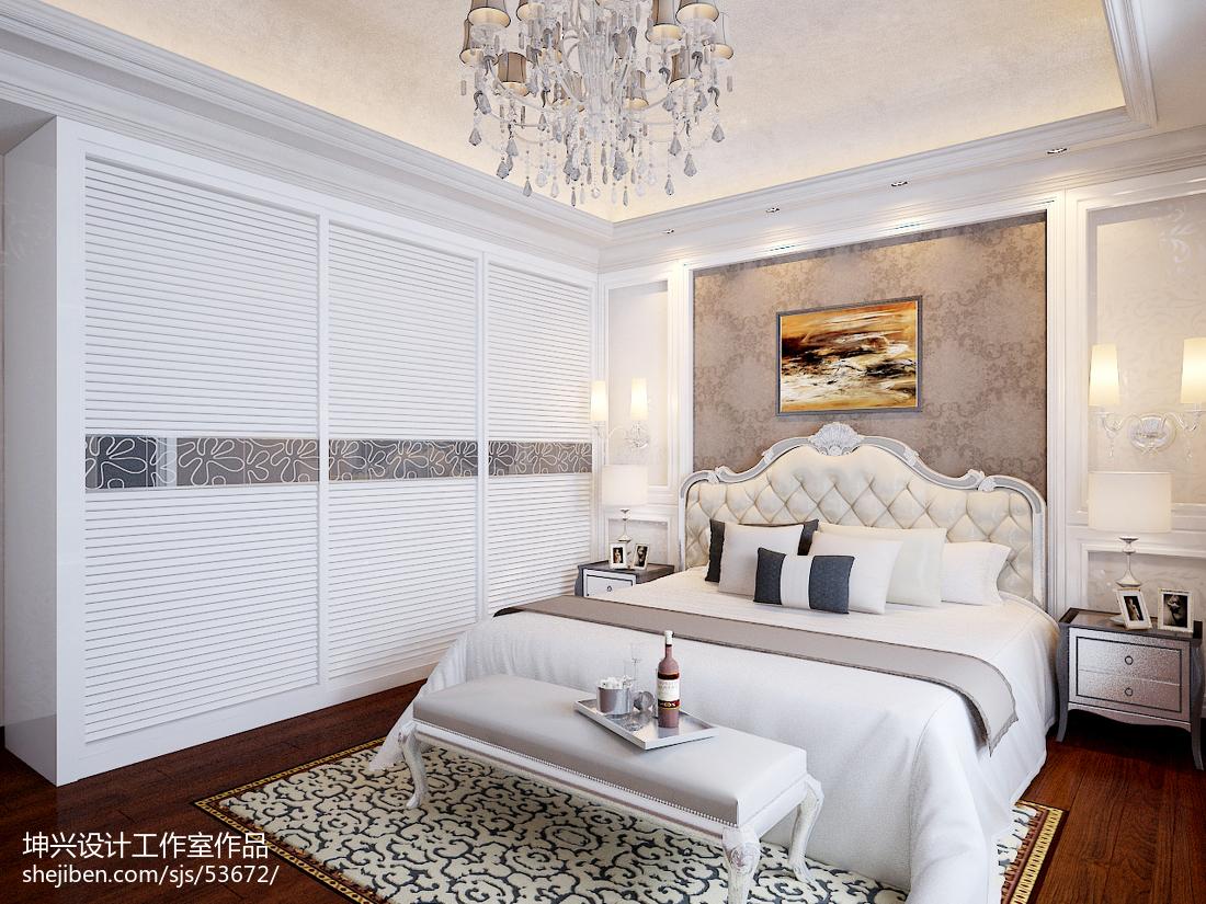 面积134平别墅卧室欧式装修设计效果图