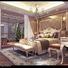 精美面积106平欧式三居卧室装修欣赏图片