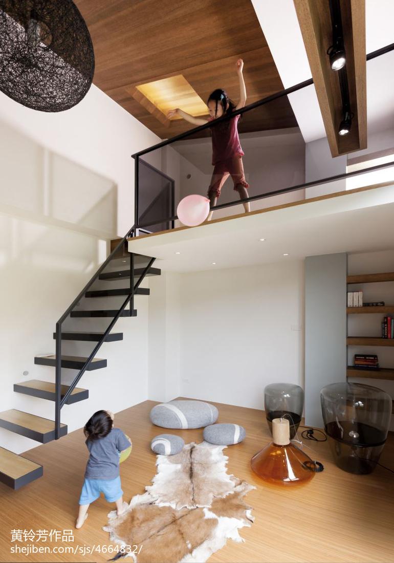 现代清新别墅楼梯装修效果图