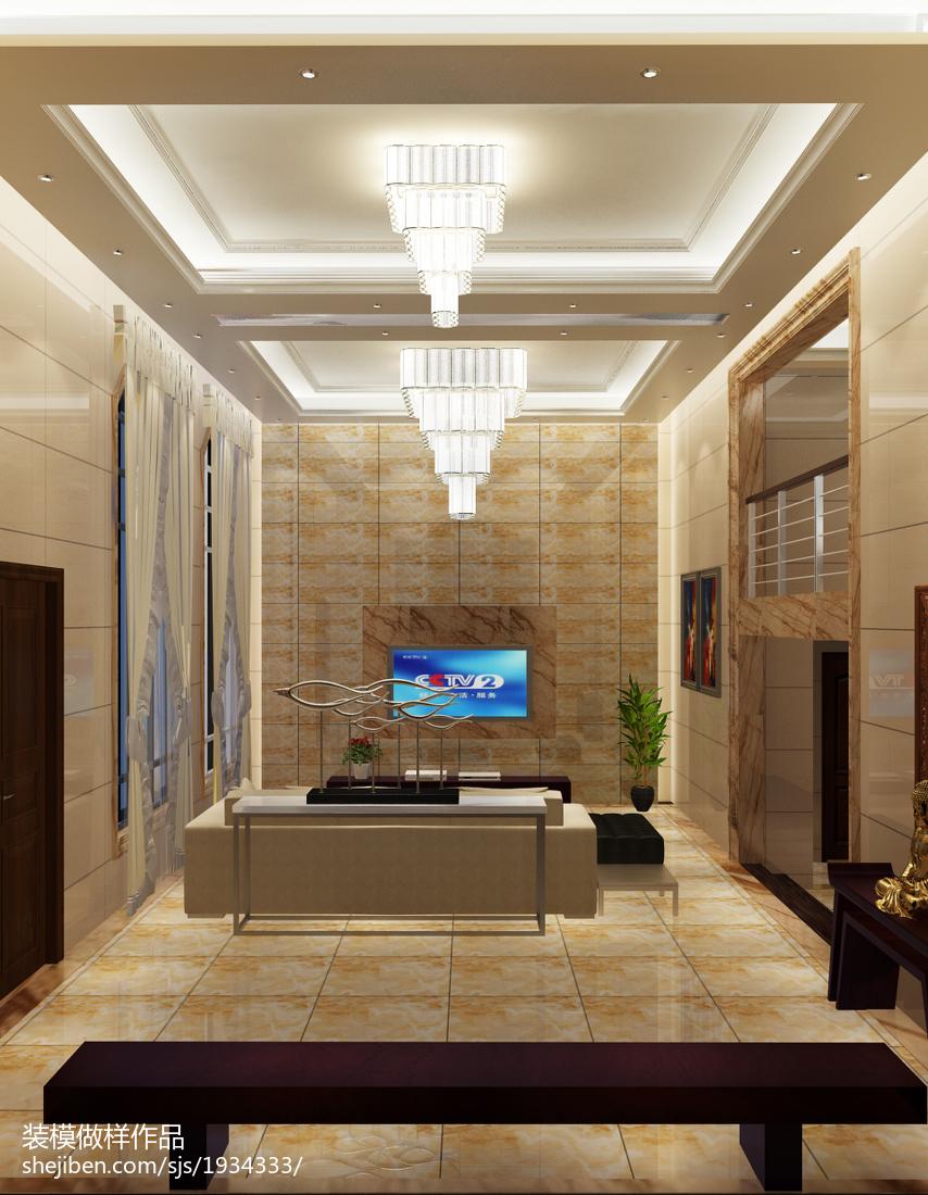 豪华别墅图片 飘逸自然的客厅装修效果图大全