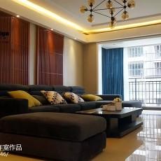 2018面积97平现代三居客厅装修实景图片
