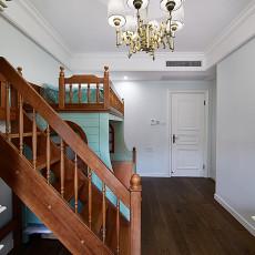 素颜简美复式儿童房上下床装修效果图
