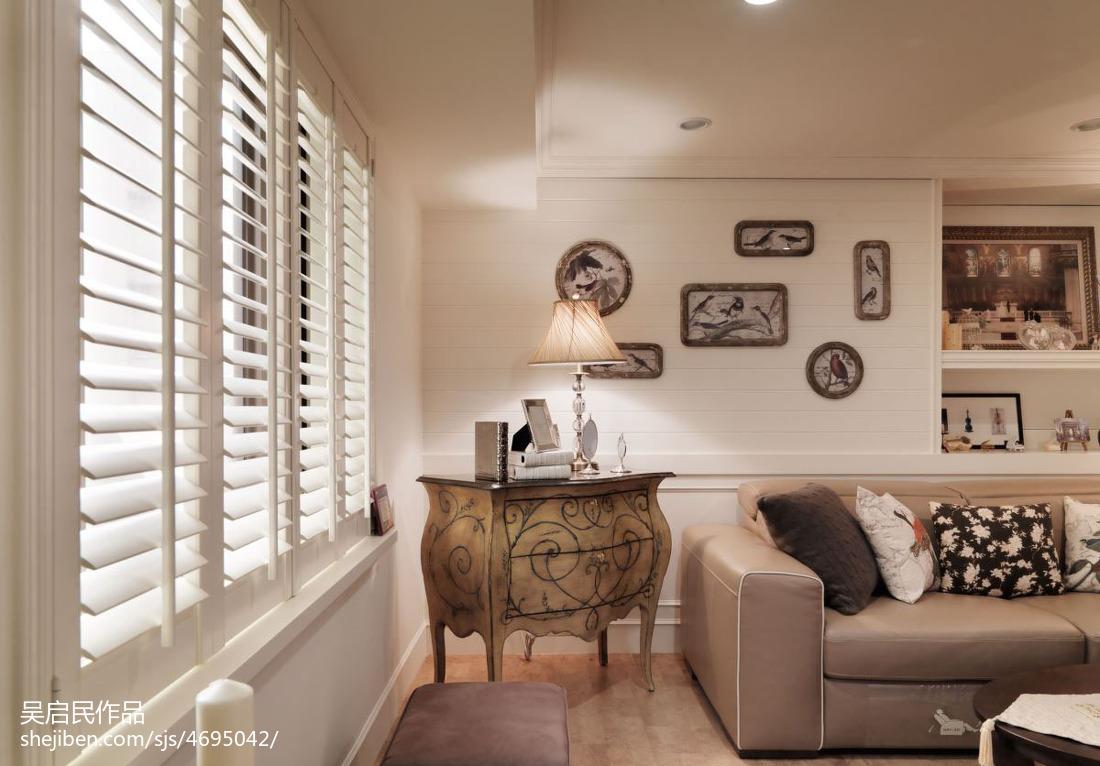 精选101平米三居客厅美式装修设计效果图