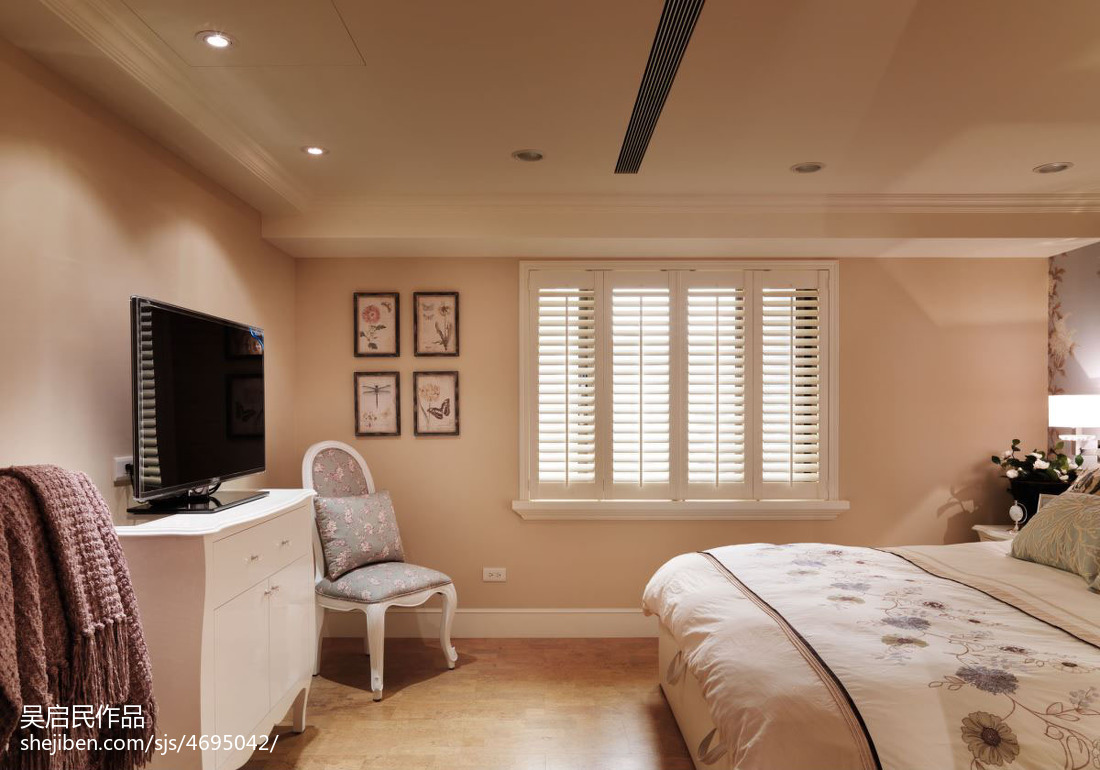 101平方三居卧室美式装饰图片欣赏