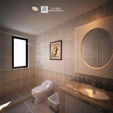 143平米美式别墅卫生间装修实景图片