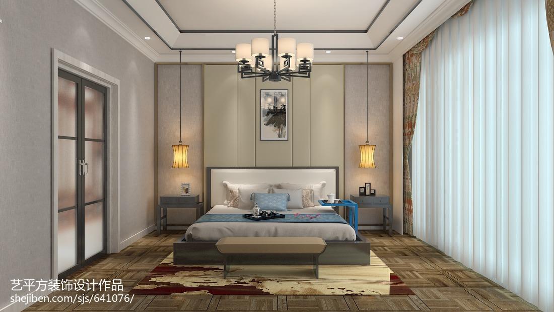 精美83平米二居卧室美式效果图片