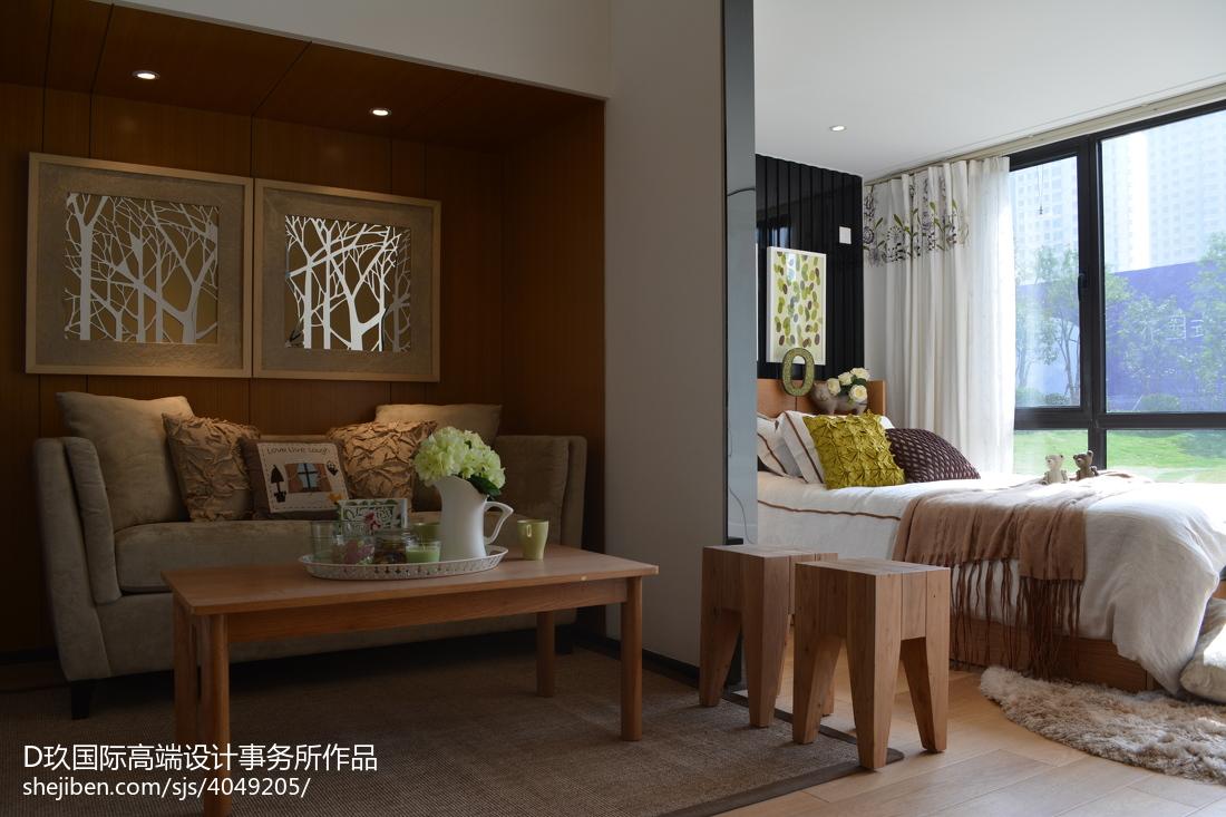 精美现代卧室实景图