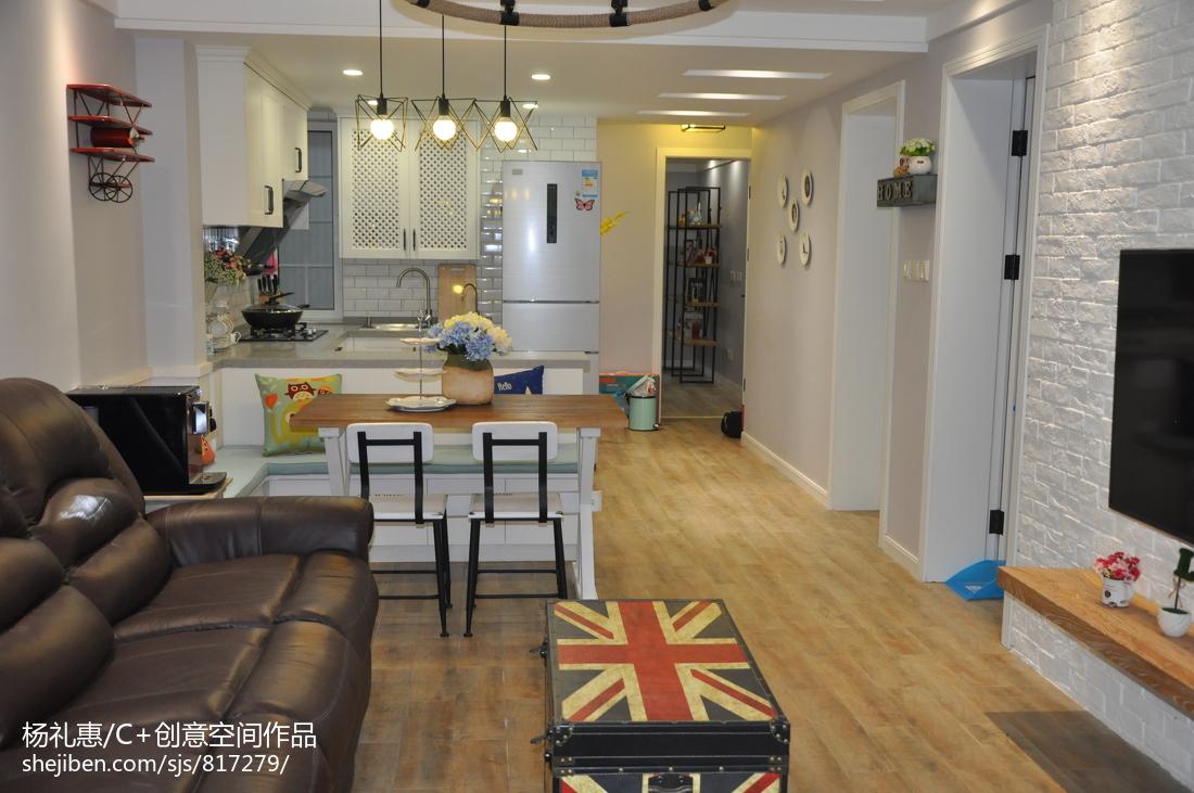混搭一居家装客厅设计效果图