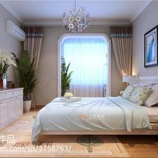 热门二居卧室美式装修实景图