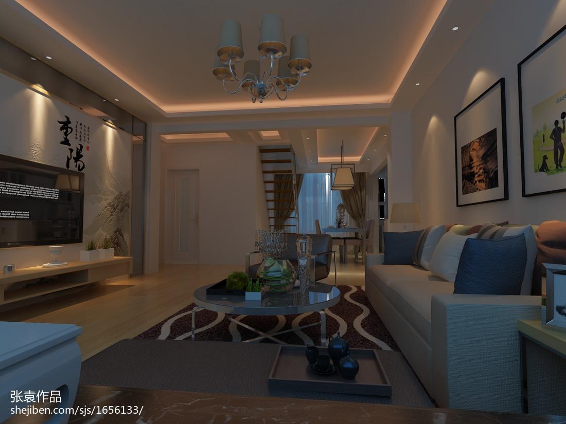 2018精选面积127平复式客厅现代装修设计效果图片欣赏