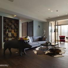 2018面积116平现代四居客厅装修图片