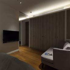 精美面积118平现代四居卧室装修图