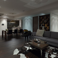 精美面积124平现代四居客厅装修图片大全