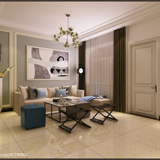 2018精选大小84平现代二居客厅装修设计效果图