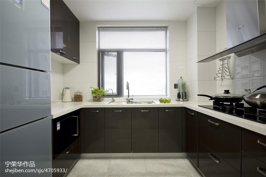 精美面积116平现代四居厨房装修效果图片