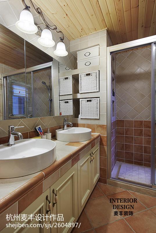 田园卫浴设计效果图欣赏