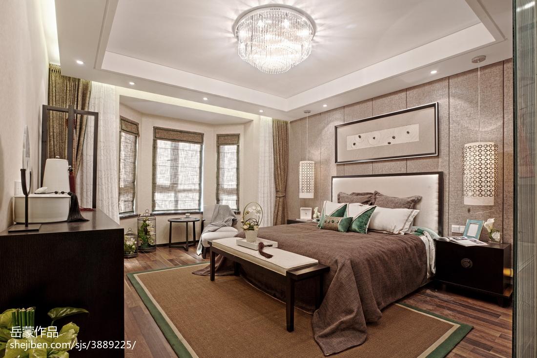 精美别墅卧室中式装修图片欣赏