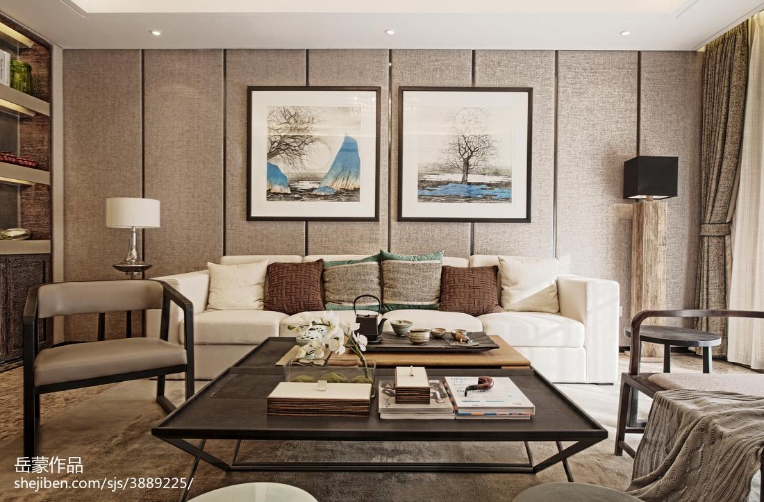 中式别墅客厅背景墙效果图