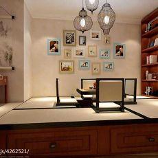 142平米现代复式书房装修欣赏图片