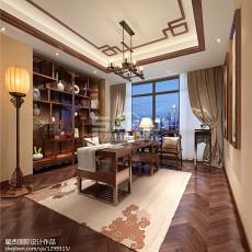 精选面积127平美式四居书房欣赏图片大全