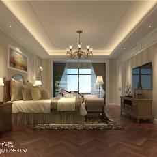 117平米四居卧室美式装修欣赏图片大全