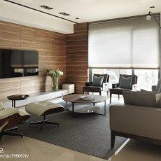 精美94平客厅三居现代装修图