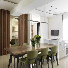 2018100平方三居餐厅现代效果图