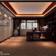 精选112平米中式别墅书房实景图片大全