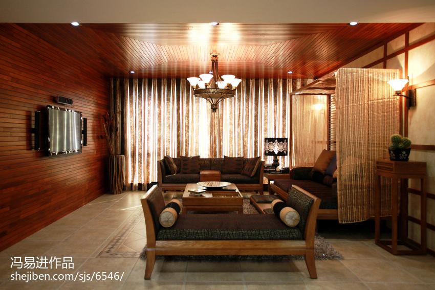 精美面积138平复式客厅东南亚装修图