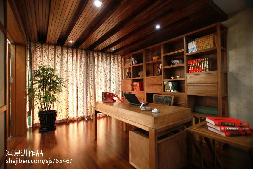 质朴75平东南亚复式书房设计美图