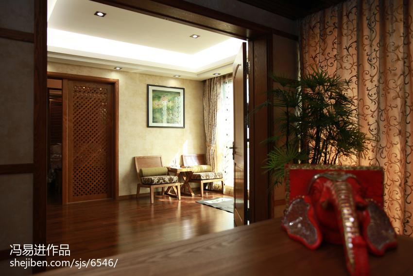 面积112平复式休闲区东南亚装饰图片欣赏
