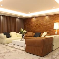 精美82平米二居客厅现代装饰图片