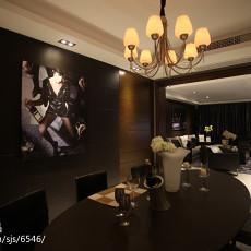 精美面积100平现代三居餐厅装修实景图片
