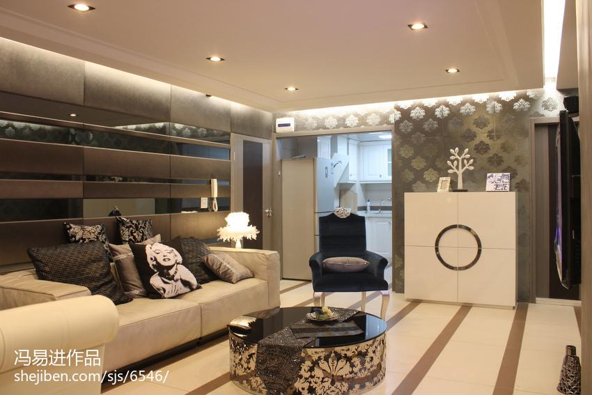 精选84平米混搭小户型客厅效果图片欣赏