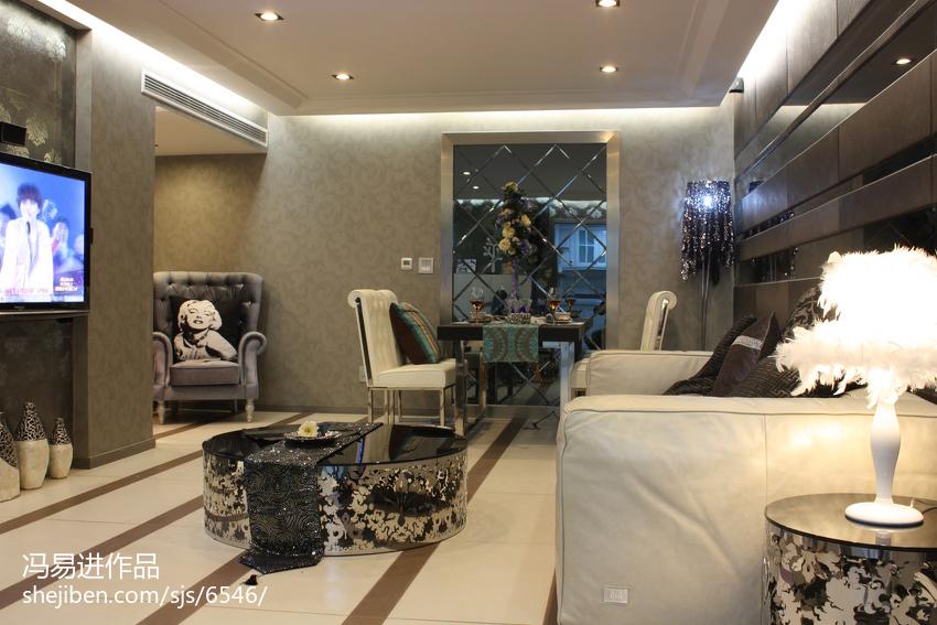 精选面积85平小户型客厅混搭装修设计效果图