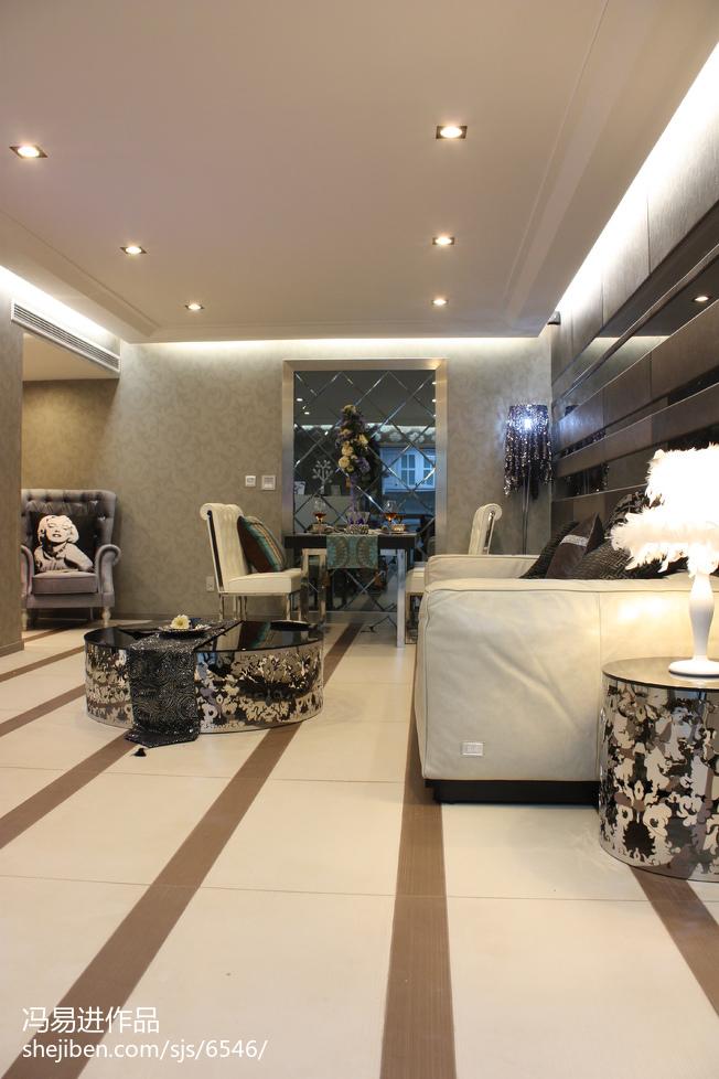 精美面积77平小户型客厅混搭装修实景图