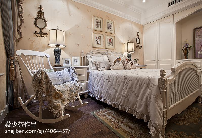 欧式风格卧室别墅样板间效果图