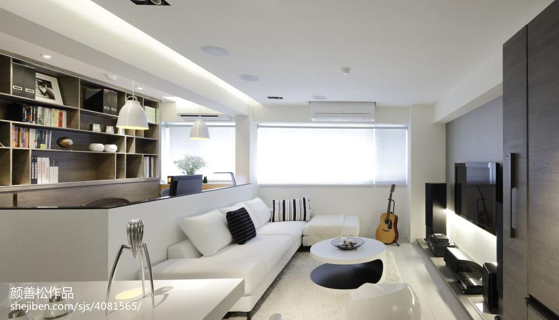 大小90平现代二居客厅装修效果图