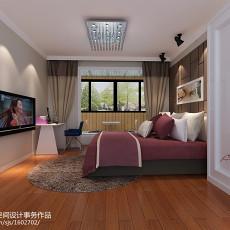 107平米三居卧室现代装修实景图片