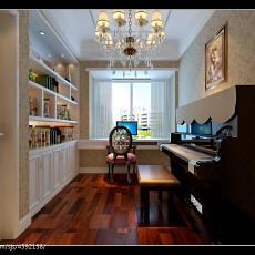 141平米四居书房欧式装修设计效果图片大全
