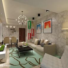 精美85平米现代小户型客厅装修欣赏图