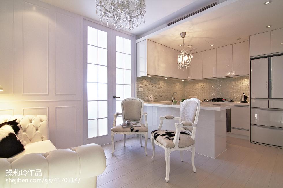 精美新古典二居厨房装修实景图