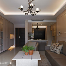 121平米四居客厅现代实景图