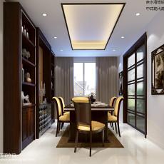 2018107平米三居餐厅中式实景图