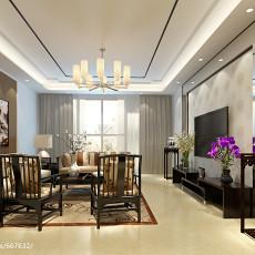 2018大小104平中式三居客厅装修效果图片