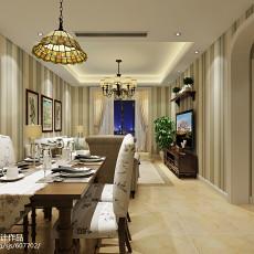 热门83平米二居餐厅美式实景图片大全